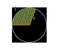 Площадь сектора круга