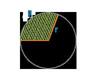 Длина дуги и радиус сектора круга