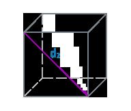 Диагональ стороны куба