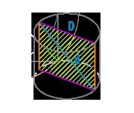 Диаметр и диагональ цилиндра