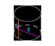 Диаметр и высота цилиндра