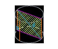 Высота и диагональ цилиндра