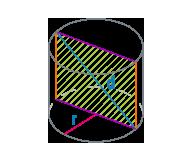 Радиус и диагональ цилиндра
