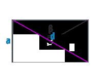 Диагональ и сторона прямоугольника
