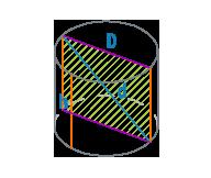 Диагональ цилиндра