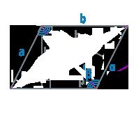 """Стороны и угол """"β"""" параллелограмма"""
