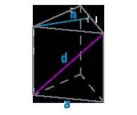 Диагональ и ребро треугольной призмы