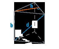 Ребро и высота треугольной призмы