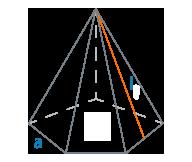Апофема и сторона основания правильной пирамиды