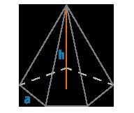 Высота и сторона основания правильной пирамиды