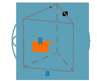 Радиус описанной сферы и ребро треугольной призмы