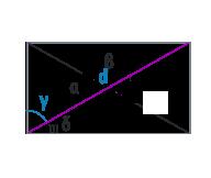 Угол деления диагональю прямоугольника