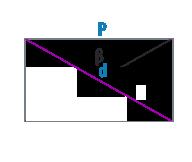 Периметр и диагональ прямоугольника