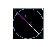 Радиус вписанной окружности квадрата