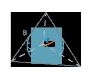Радиус вписанной сферы тетраэдра