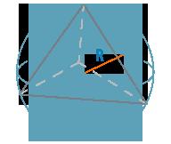 Радиус описанной сферы тетраэдра