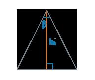 Высота и угол равнобедренного треугольника