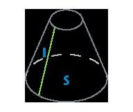 Площадь и образующая усеченного конуса