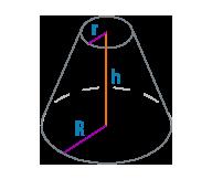 Радиус и высота усеченного конуса