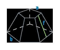 Стороны и апофема усеченной пирамиды